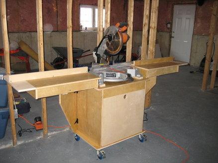 réalisation d'un meuble support pour scie à onglet 12489210
