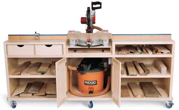 réalisation d'un meuble support pour scie à onglet Miter-10