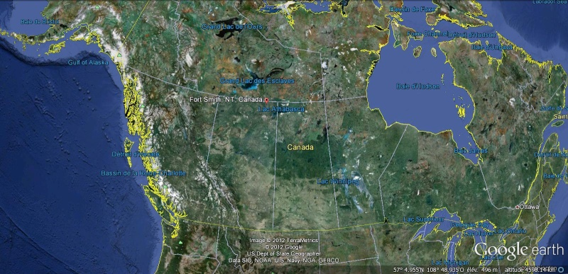 [Canada] - Le plus grand barrage de castors découvert grâce à Google Earth Albert11