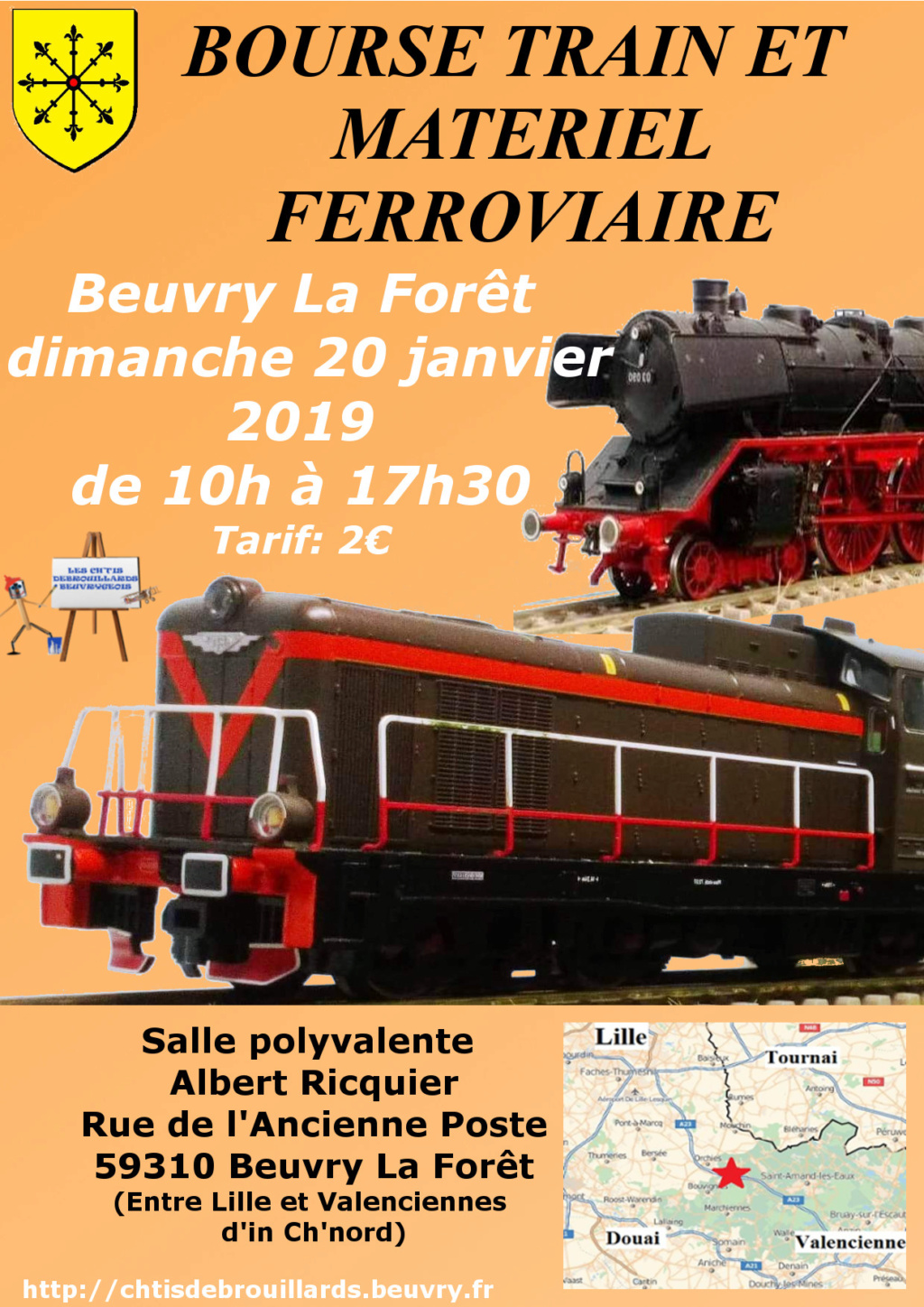 BOURSE TRAIN entre Lille.et valenciennes Affich10