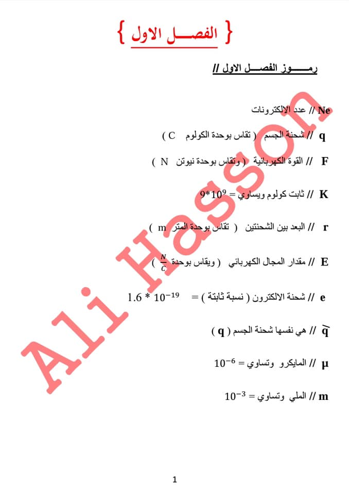 مجموعه ملخصات القوانين واستخداماتها لفيزياء الثالث المتوسط  2019 156