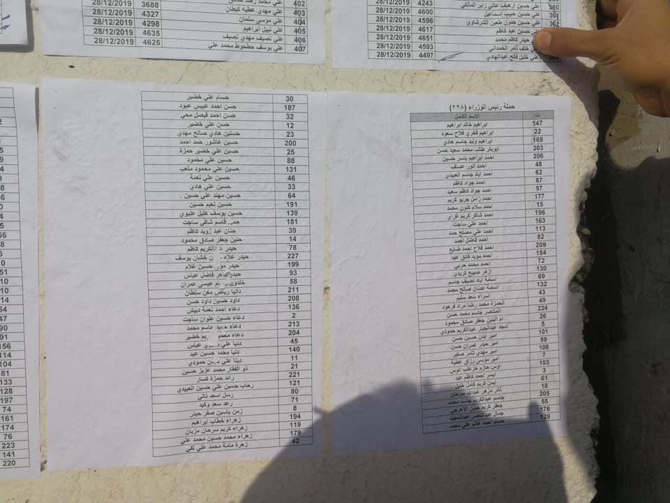 اسماء المقبولين في تعيينات مكتب رئيس الوزراء في العلاوي على وزارة الدفاع 1623