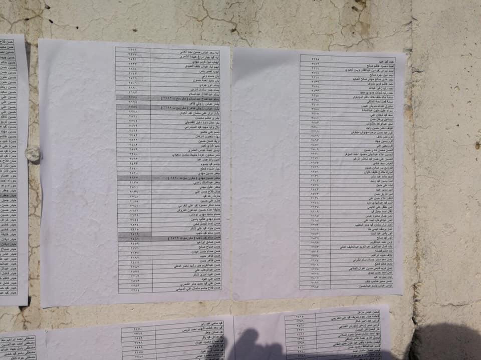 اسماء المقبولين في تعيينات مكتب رئيس الوزراء في العلاوي على وزارة الدفاع 2225