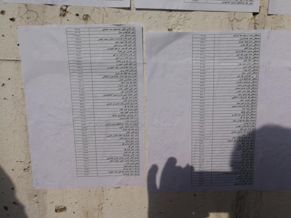 اسماء المقبولين في تعيينات مكتب رئيس الوزراء في العلاوي على وزارة الدفاع 2317