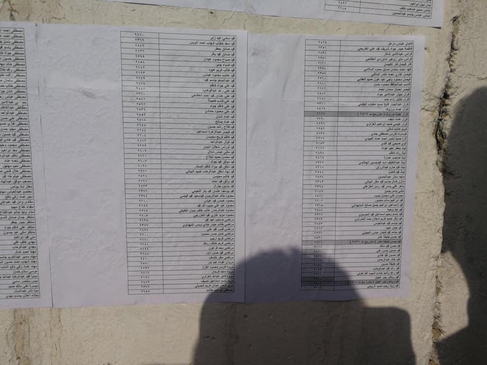 اسماء المقبولين في تعيينات مكتب رئيس الوزراء في العلاوي على وزارة الدفاع 2614