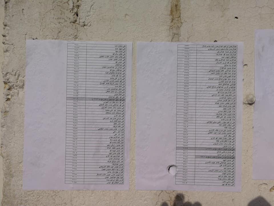 اسماء المقبولين في تعيينات مكتب رئيس الوزراء في العلاوي على وزارة الدفاع 2714