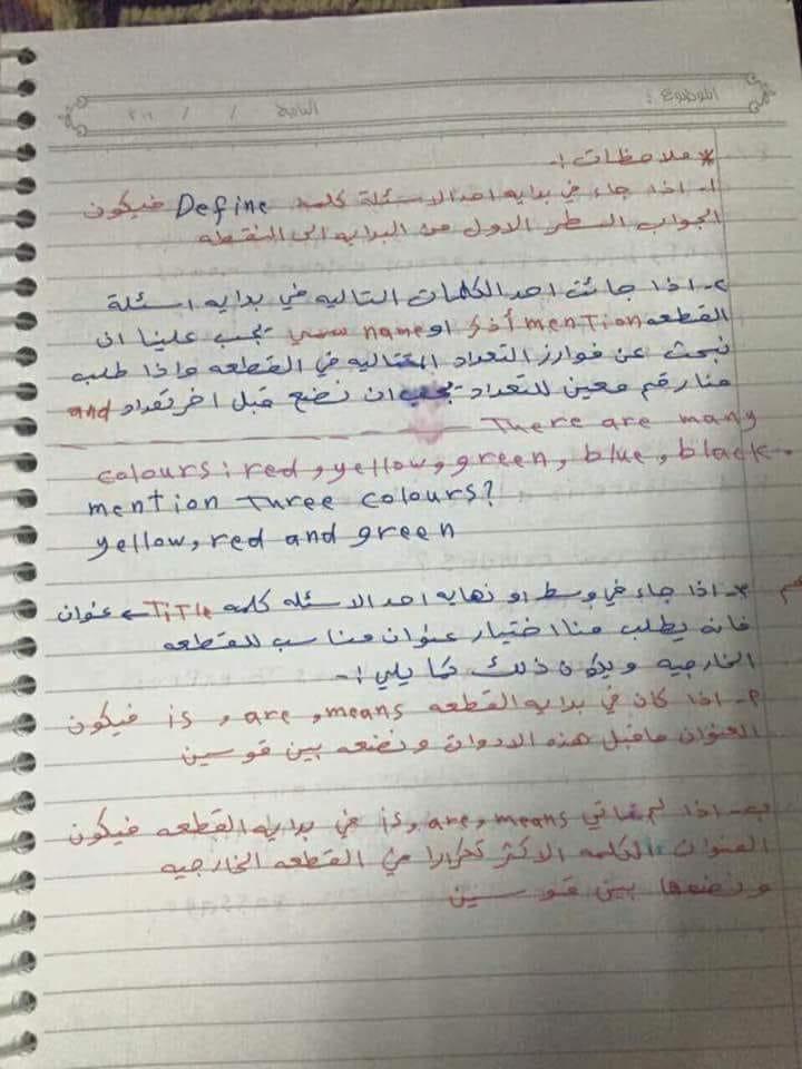 كيفية الاجابة على اسئلة القطعة الخارجية مادة الانجليزية السادس الاعدادي 320