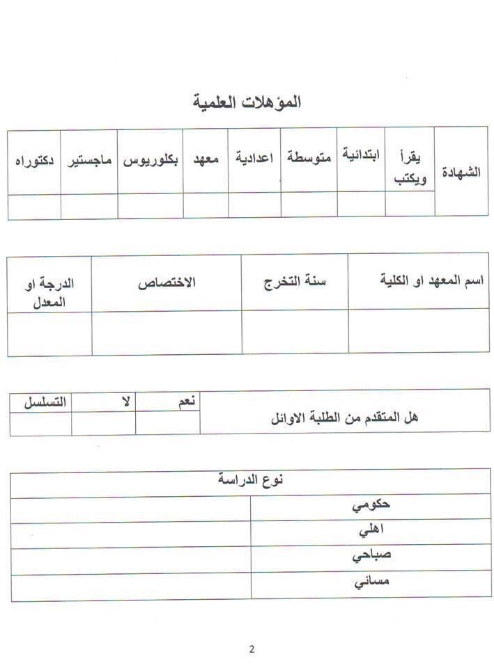 درجات وظيفية في وزارة الثقافة العراقية باختصاصات متنوعة 2019 541