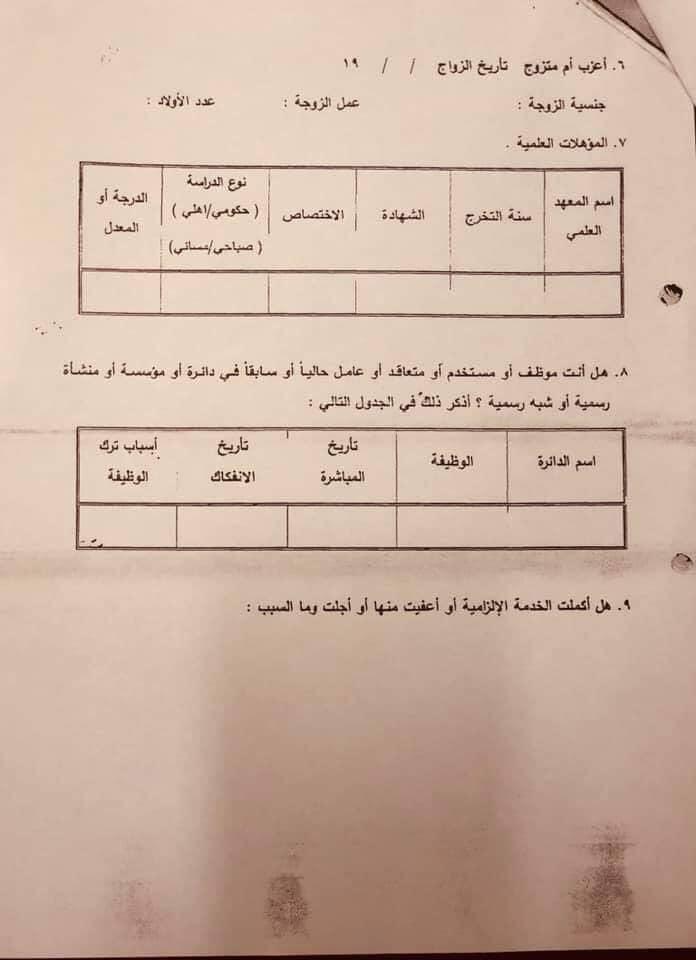 درجات وظيفية شاغرة في محافظة النجف تابعة لوزارة العمل و الشؤون الاجتماعية 544