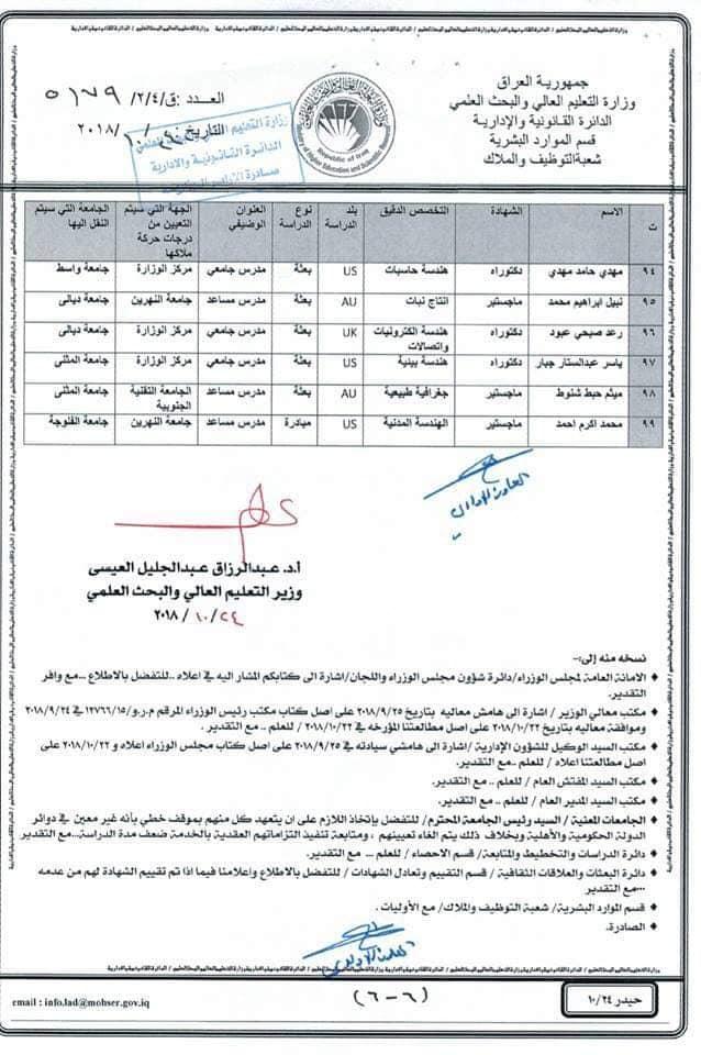 عاجل :: تعيينات بوزارة التعليم العالي لحاملي الشهادات 625