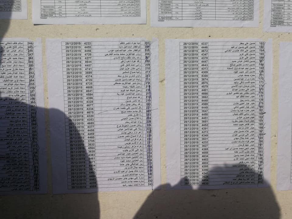 اسماء المقبولين في تعيينات مكتب رئيس الوزراء في العلاوي على وزارة الدفاع 938