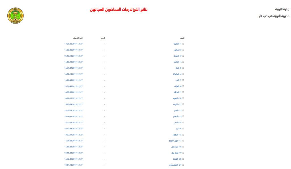 اسماء المقبولين في تعيينات تربية ذي قار 2020 المحاضرين المجانيين  Ae_aaa26