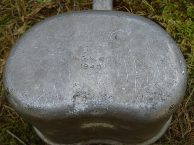 La popote du GI (WW2) : plastic canteen (gourde ethocel), gamelles M1942… Dsc01216