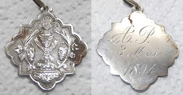 Medalla del Santísimo Sacramento, segunda mitad siglo XIX. 1894_c10