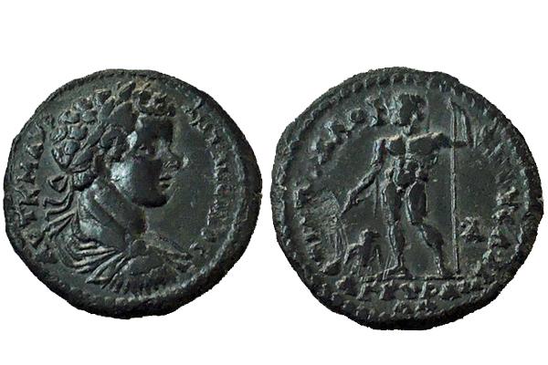 Assarion de Caracalla. ЄΠI AΠOΛΛOΦIANOVC ΛOV AP A / ANKVPANΩΝ. Ancyra (Frigia) Caraca10
