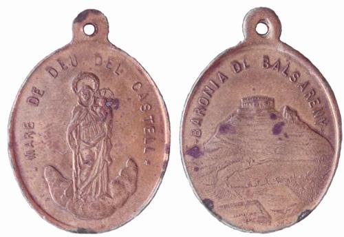 Medalla de la Mare de Deu del Castell, Castellvi de la Marca, finales del siglo XIX.(MAM) Castel10