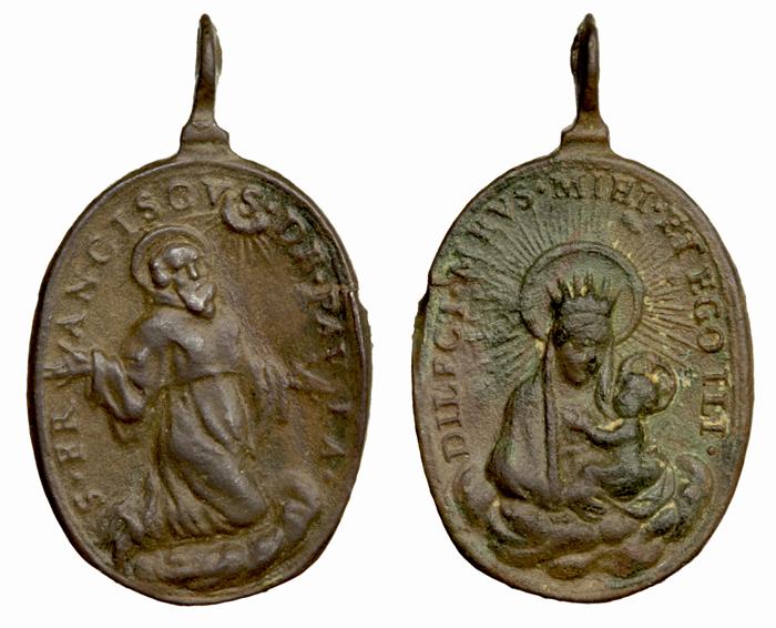 San Francisco de Paula / Virgen del Carmen (R.M. SXVII-O485) Franci10
