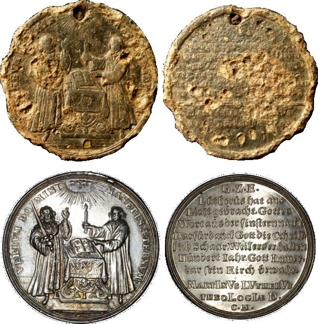 Medalla conmemorativa de la Reforma protestante Lutero11