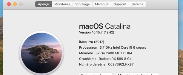 Mise a jour macOS Catalina 10.15.7 (19H2) Captu117