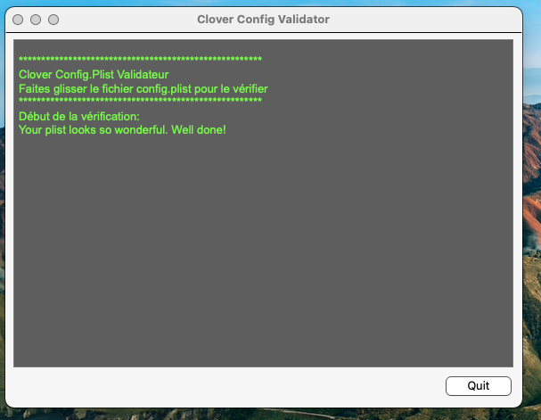 Clover Config Validateur Captu190
