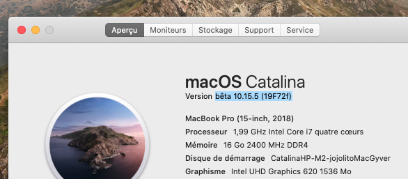 macOS Catalina 10.15 Developper Beta - Page 7 Captur63