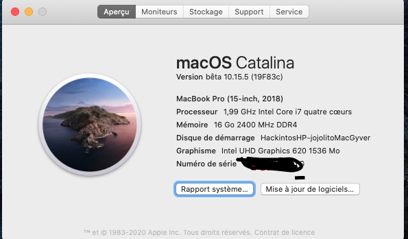 macOS Catalina 10.15 Developper Beta - Page 7 Captur75