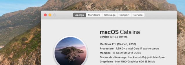 Mise a jour macOS Catalina 10.15.5 (19F96) Captur80