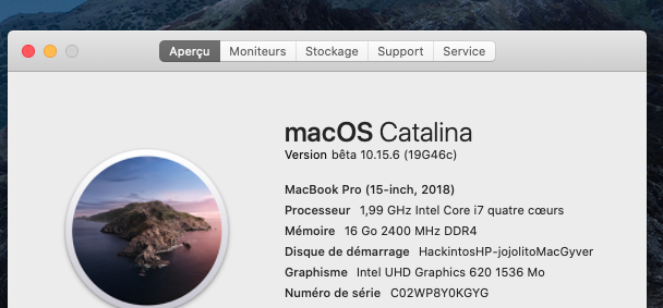 macOS Catalina 10.15 Developper Beta - Page 8 Captur85