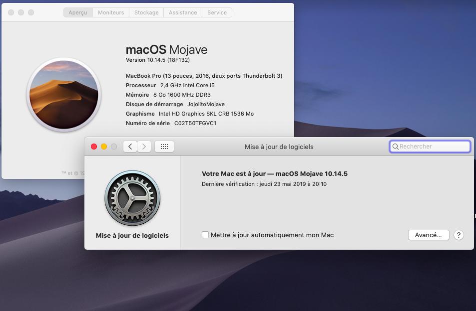 macOS Mojave 10.14.5 Finale version  (18F132 ) Mise_z10