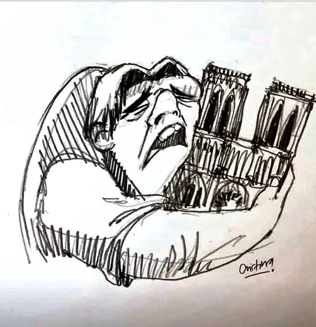 La flèche de la cathedrale de Paris vient de s'effondrer. - Page 2 D4od5j10