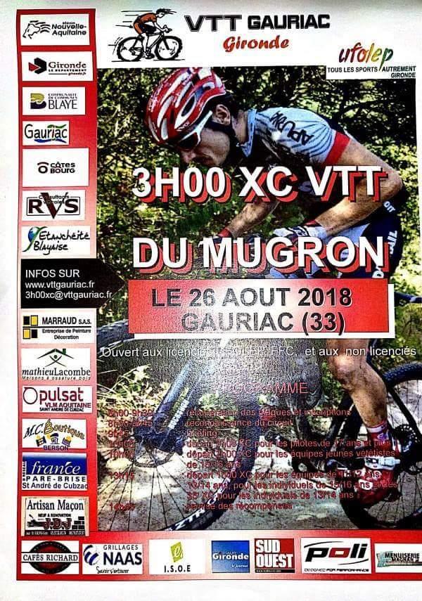 Course VTT les 3 heures du Mugron à Gauriac dimanche 26 Août 2018 Fb_img21