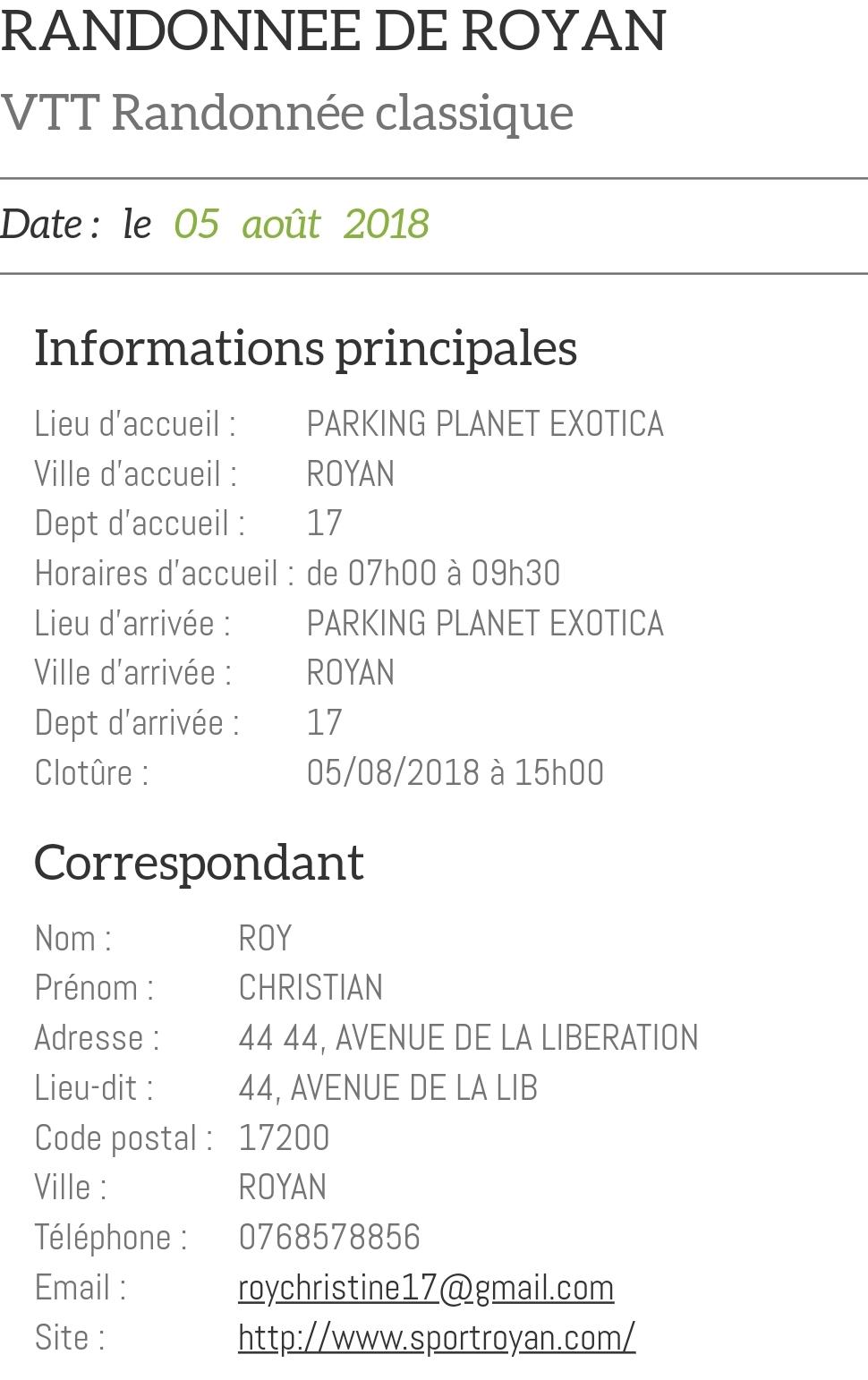Rando vtt de Royan le dimanche 05 Août 2018 Screen11