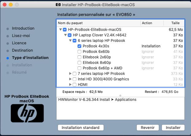 Problème création clé HP ProBook EliteBook macOS Captur11
