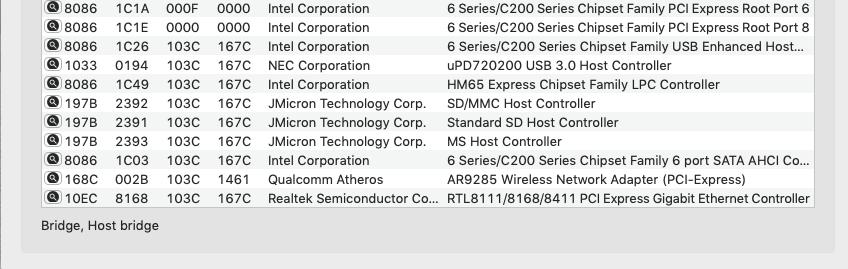 Problème création clé HP ProBook EliteBook macOS Captur15
