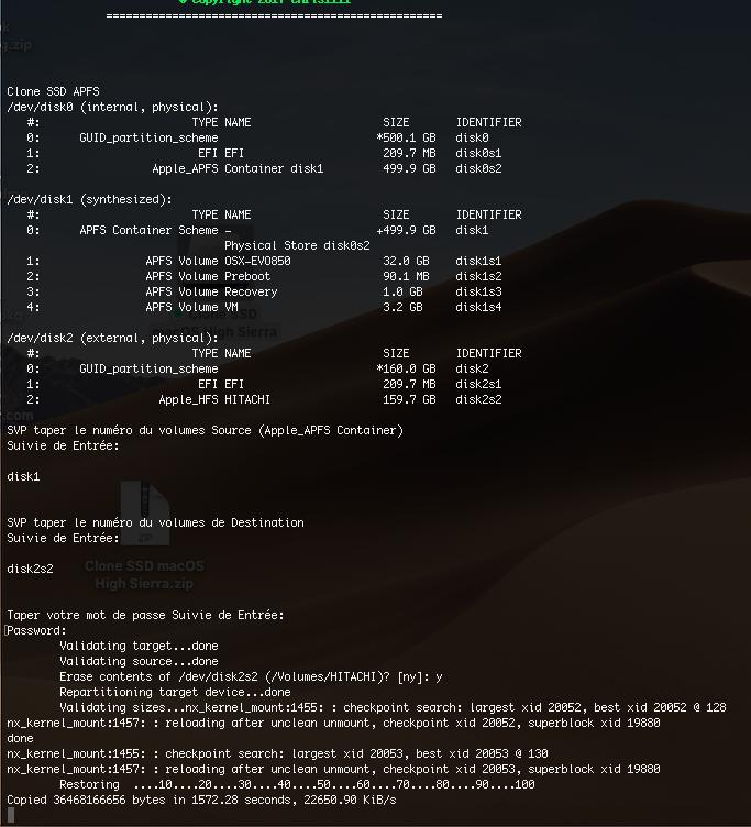 Clone SSD Mojave Captur28