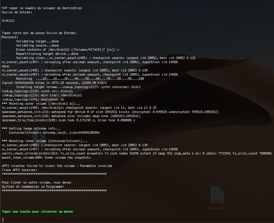 Clone SSD Mojave Captur30