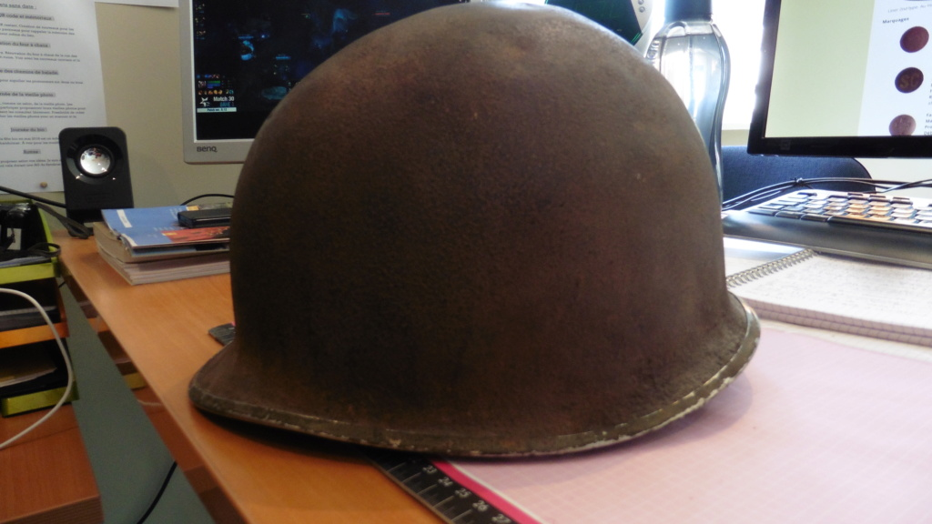 Reconnaissance d'un casque M1 américain P1010914