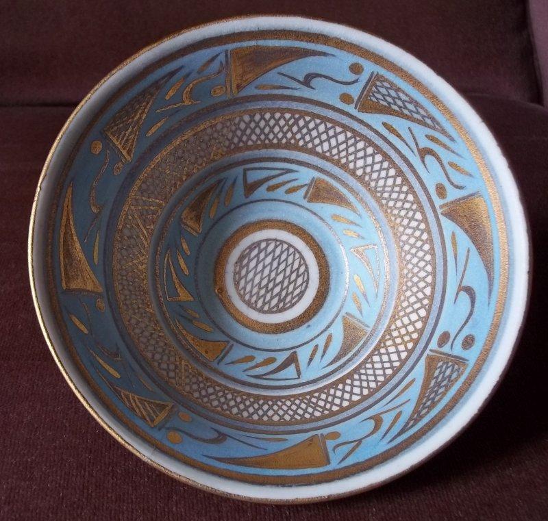 Gilt decorated studio bowl - Emmie Philps 100_3911