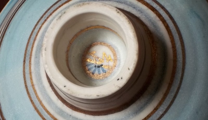 Gilt decorated studio bowl - Emmie Philps 100_3912