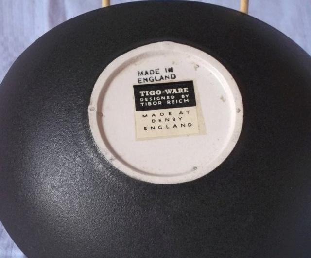 """Denby pottery """"Tigo ware"""" Tibor Reich designs 100_4236"""