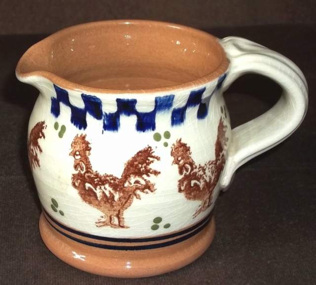 Jug with sponged chickens. 100_4458