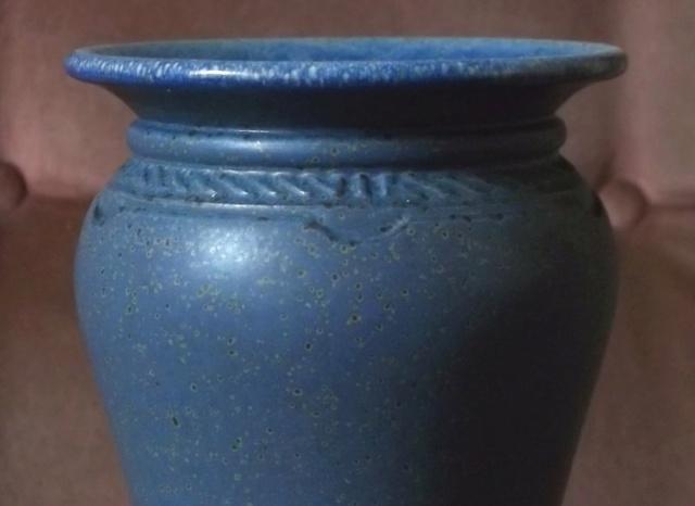 Blue stoneware pieces - possibly Ian Hinchcliffe  100_4473