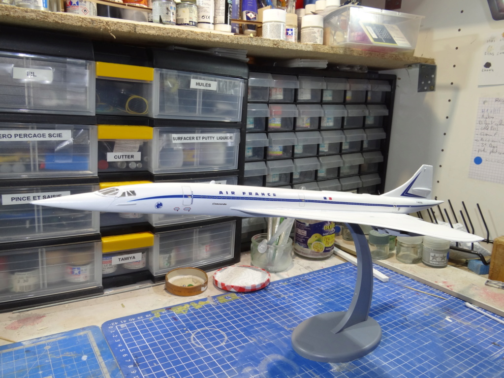 SUD AVIATION - BRITISH AIRCRAFT CORPORATION  CONCORDE Cie AIR FRANCE 1/125ème Réf 850 Concor12