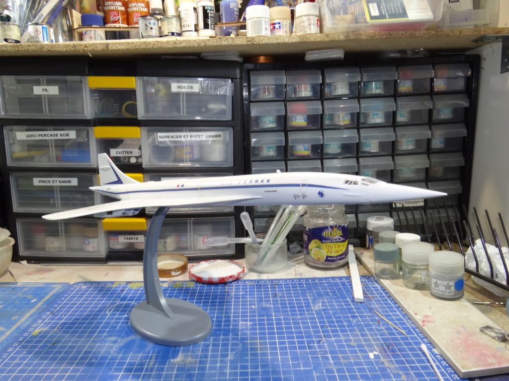SUD AVIATION - BRITISH AIRCRAFT CORPORATION  CONCORDE Cie AIR FRANCE 1/125ème Réf 850 Concor14
