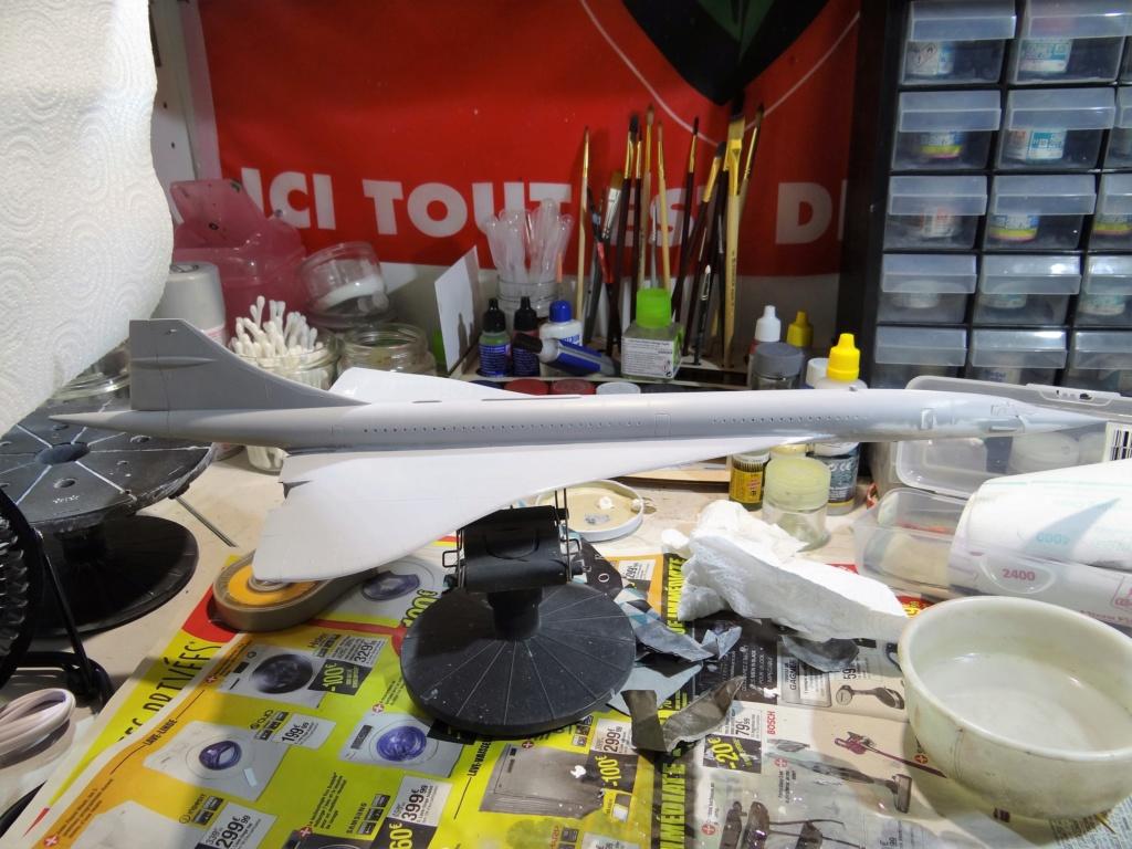 SUD AVIATION - BRITISH AIRCRAFT CORPORATION  CONCORDE Cie AIR FRANCE 1/125ème Réf 850 Dsc08529