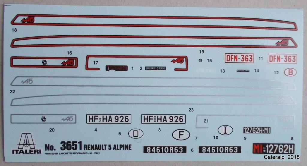 [ Italeri ] Renault 5 Alpine  00610
