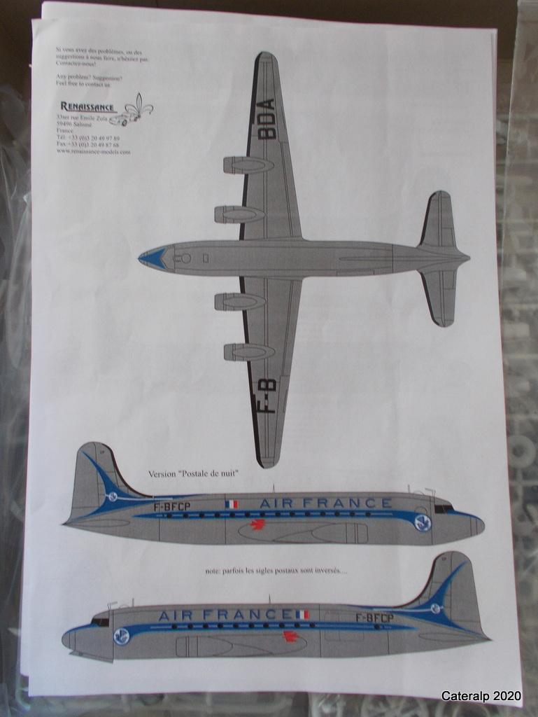 [REVELL] DOUGLAS DC 4 déco AIR FRANCE Réf  04877 Dc4_re12