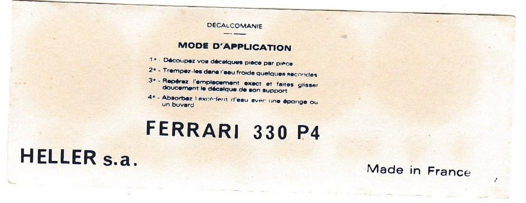 FERRARI 330 P4 Réf L737 1/24ème  Decals11