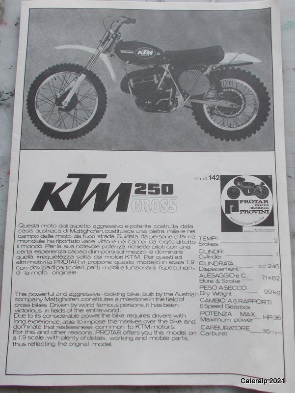 [PROTAR] KTM cross 1975 1/9ème Réf 142 Dzobut21