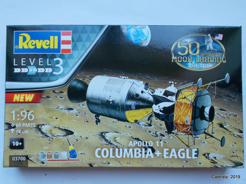 [REVELL] APOLLO 11 COLOMBIA + EAGLE 50ème anniversaire 1/96ème Réf 03700 Fuszoe49